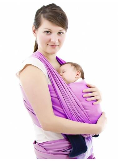 Sevi Bebe Sevi Bebe Bebek Taşıma Şalı  Bordo